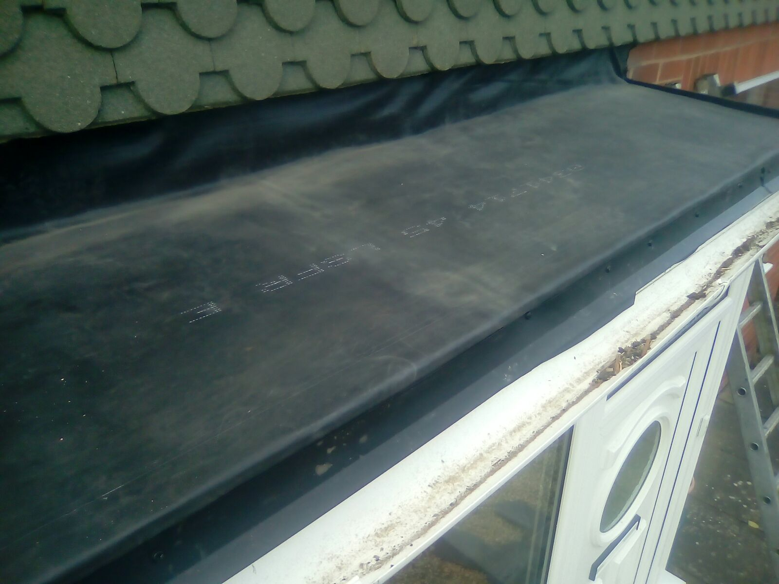 Rubber Flat Roof In Bayston Hill Shrewsbury Wr Roofing